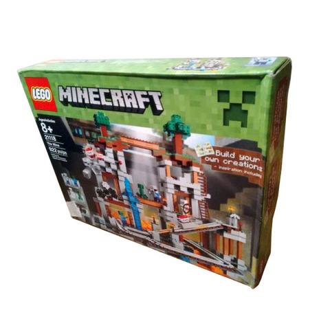 Вид коробки с Лего Майнкрафт 21118 Шахта