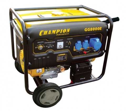 Бензогенератор Champion GG8000E 6,5 кВт с электростартером