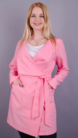 Шерон. Кардиган больших размеров. Розовый.