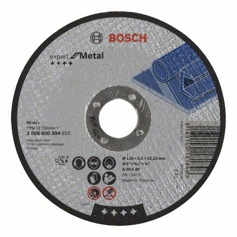 Отрезной круг Bosch Expert по металлу 125 x 2.5мм, прямой 2608600394