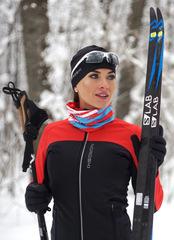 Женская тёплая лыжная куртка Nordski Active Red-Black 2020