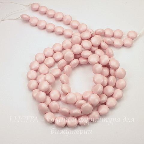 5860 Хрустальный жемчуг Сваровски Crystal Pastel Rose круглый плоский 10 мм