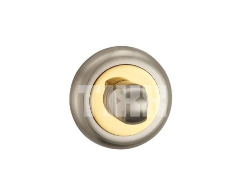 Фурнитура - Завёртка К Ручкам  TIXX BK 04, цвет никель матовый/латунь блестящая