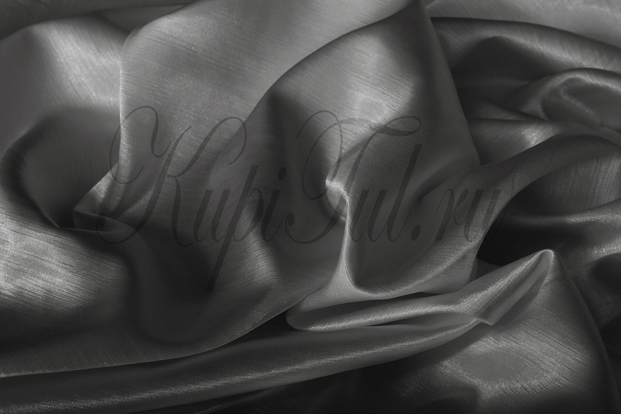 Длинные шторы. Leonardo (Серый),  однотонный шик-сатен.
