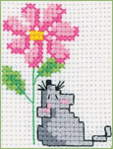 MH507 Мышка с цветком