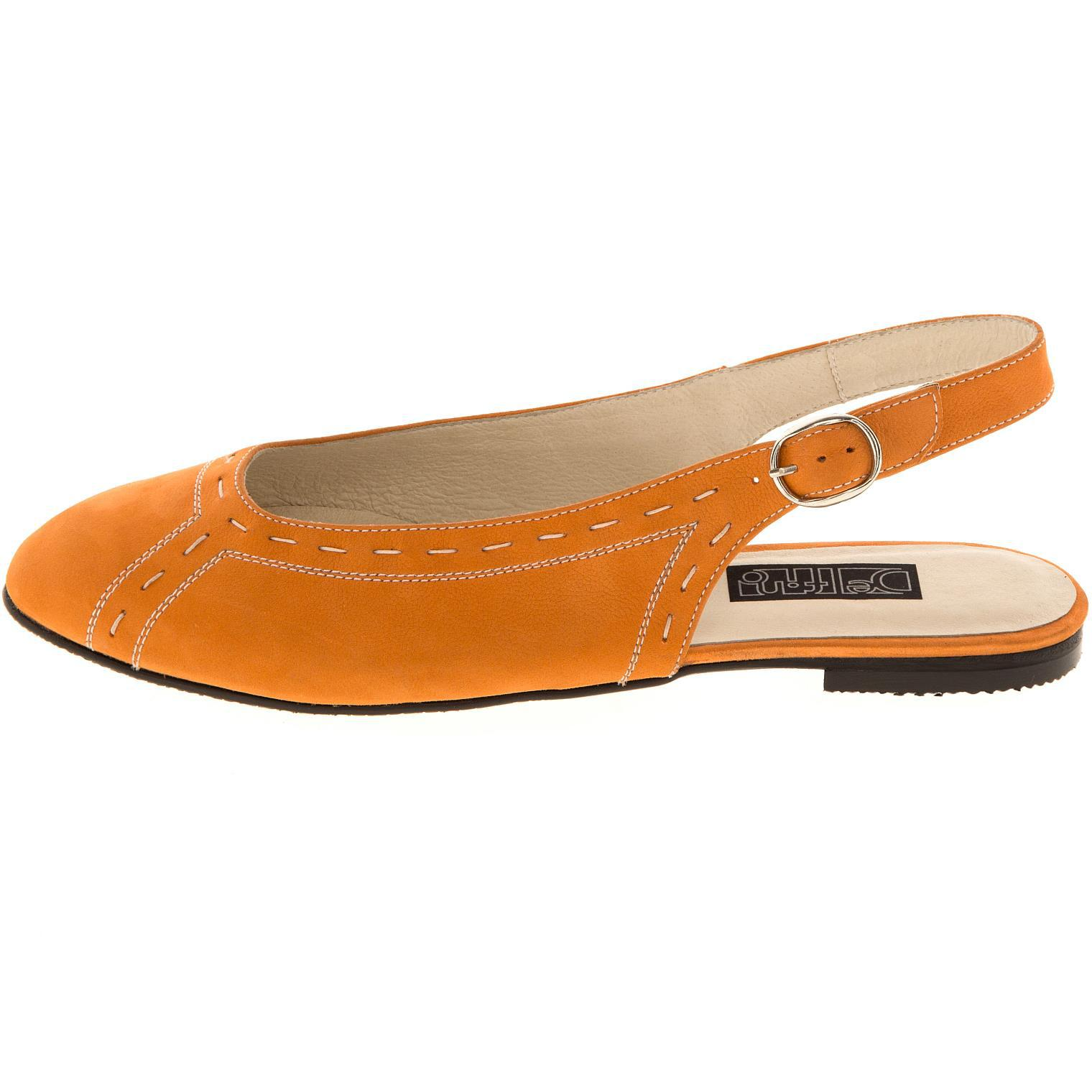 629199 Туфли летние женские оранж больших размеров марки Делфино