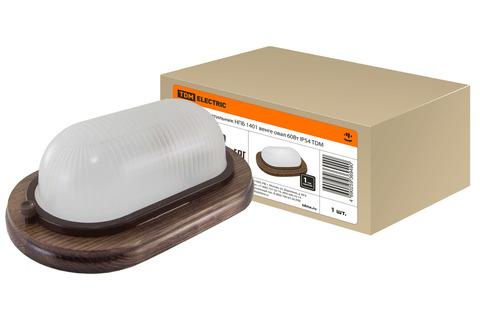 Светильник НПБ1201 венге овал 100Вт IP54 TDM