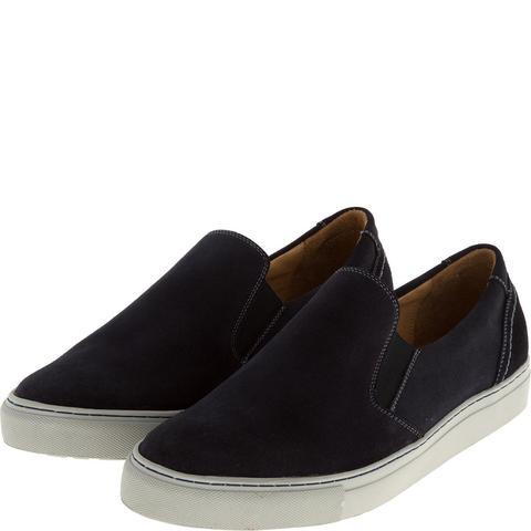 546308 полуботинки мужские синие (слипоны). КупиРазмер — обувь больших размеров марки Делфино