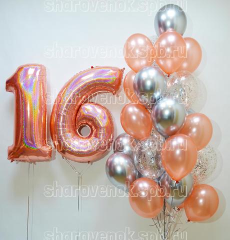 фонтан из шаров , цифры из шаров
