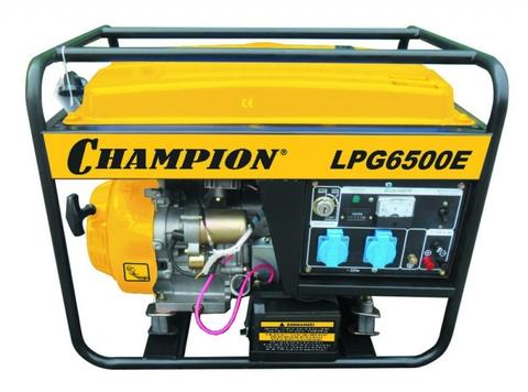Бензогенератор Champion LPG6500E  5.5+кВт+ газ