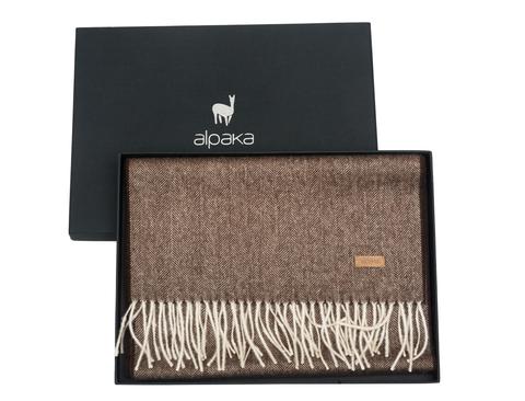 Плед-шарф шерстяной 30x200 Alpaka коричневый