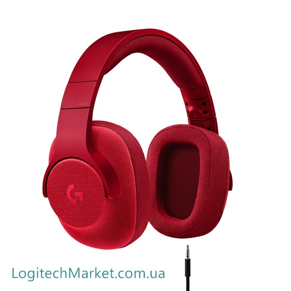 LOGITECH G433 Fire Red