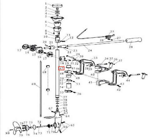Втулка кронштейна верхняя для лодочного мотора T3,5 Sea-PRO