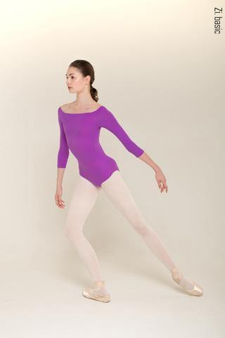2 Sleeves leotard (violet)
