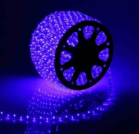 Дюралайт светодиодный, чейзинг, 13мм - 3 жилы - 36 led/m, Синий - 50м