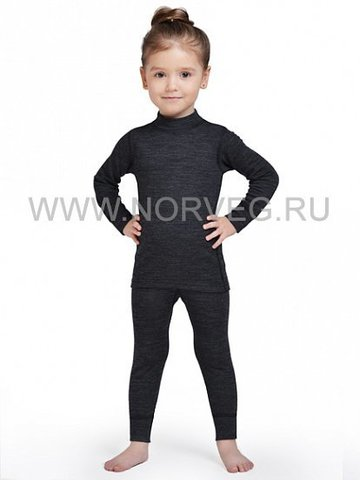 Комплект термобелья Norveg Winter детский серый