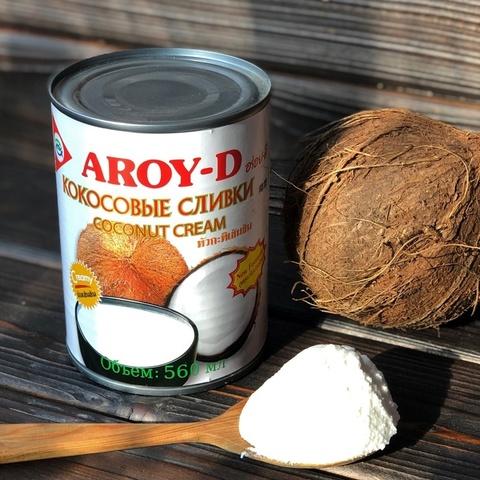 Фотография Кокосовые сливки Aroy-D 70%, 560 мл купить в магазине Афлора