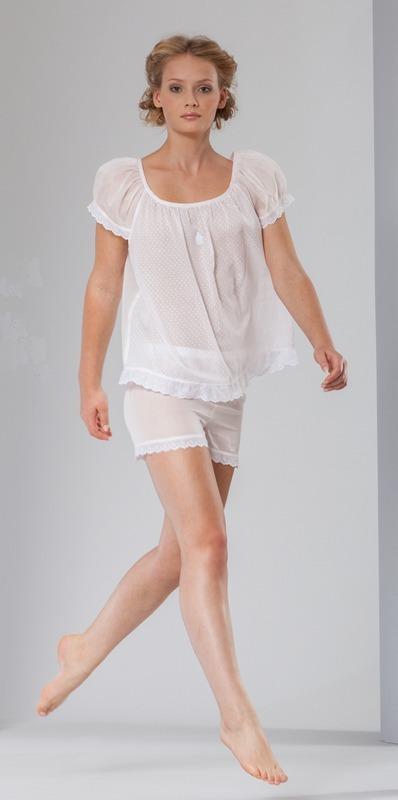 Одежда для сна Пижама Celestine Vroni White белая pizhama-zhenskaya-celestine-vroni-germaniya.jpg