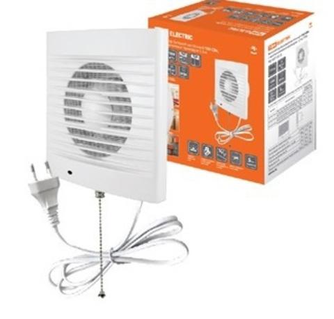 Вентилятор бытовой настенный 100 СВп, с выключателем и проводом 1,3 м, TDM