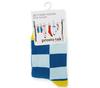 Носки детские голубые с рисунком Клетка