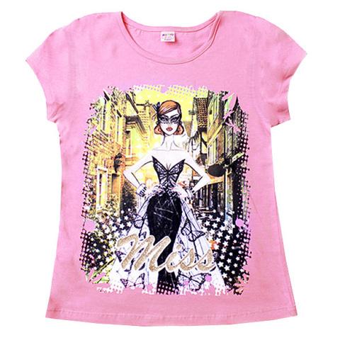 BK003-42 футболка детская, розовая
