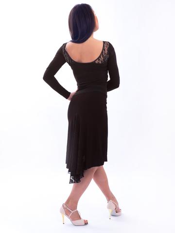 Юбка для танго с гипюром арт. 034/1