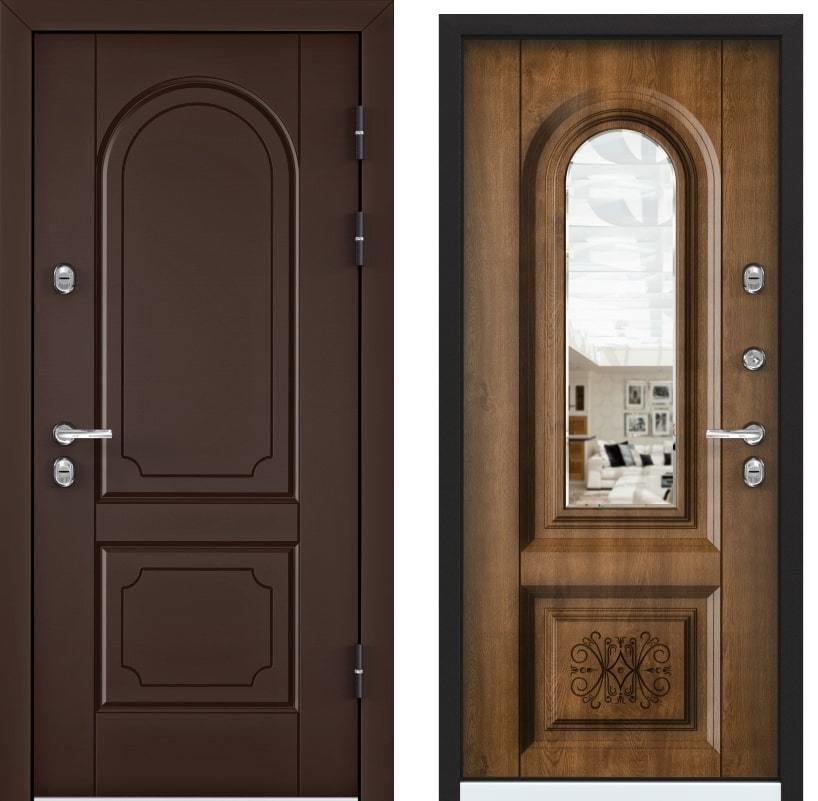 Входные двери Snegir 45 PP коричневый 8017 OS45-03 КТ дуб медовый generated_image-19.jpg