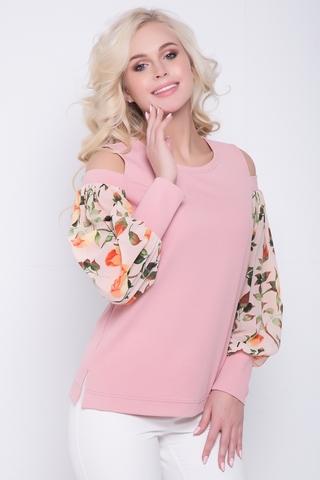 <p>Хит сезона! Очаровательная блузка для создания неповторимого образа. Весна - это сезон новых эмоций! Блузка полуприталенного силуэта с шикарными шифоновыми рукавами на манжете с эффектной отделкой в области плеча.</p>