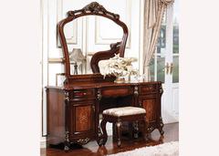 Столик туалетный с зеркалом Аманда (MK-2709-DN) Темный орех
