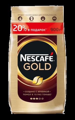 Кофе растворимый Nescafe Gold, пакет, 900 г