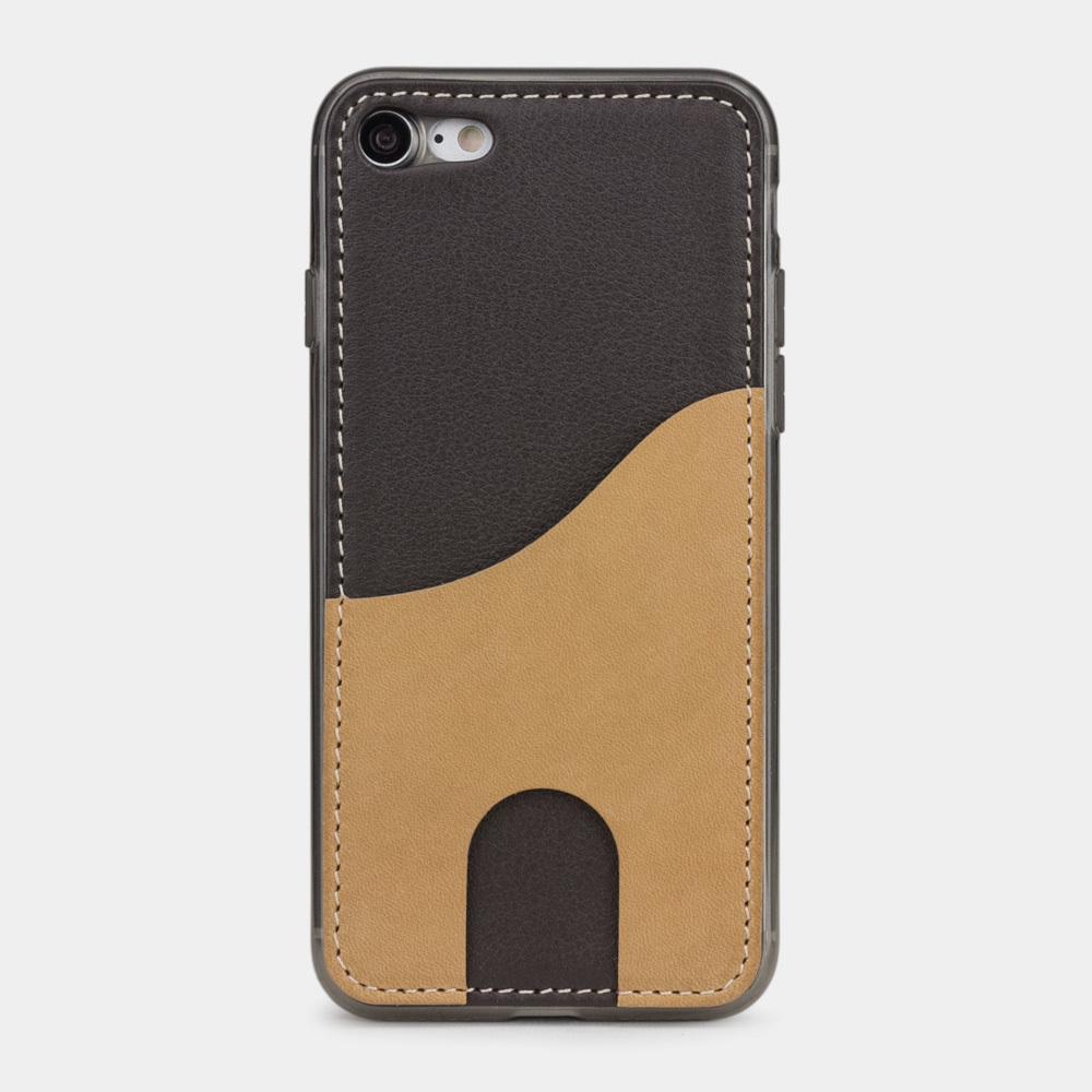 Чехол-накладка Andre для iPhone 7 из натуральной кожи теленка, темно-коричневого цвета