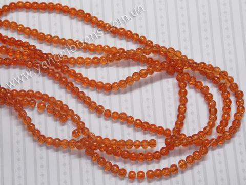Бусины Битое стекло оранжевые