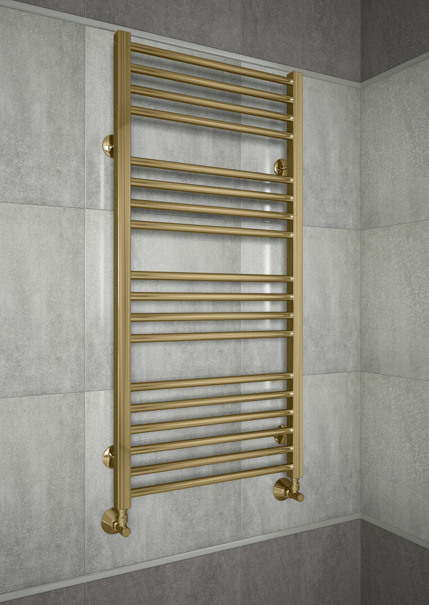 Sicilia Bronze - бронзовый полотенцесушитель с квадратными вертикалями. Бронза.