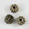"Бусина металлическая ""Шипастая"" 7х6 мм (цвет - античная бронза), 10 штук"