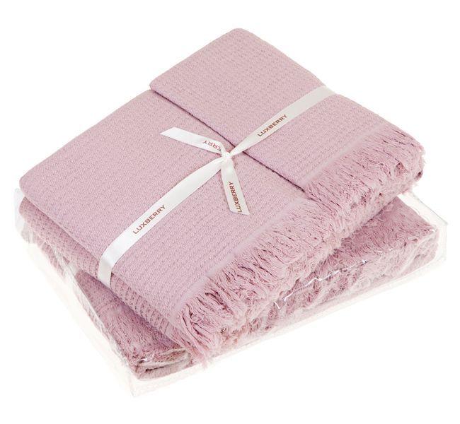 Наборы полотенец Набор полотенец 2 шт Luxberry Macaroni розовые nabor-polotenets-2-sht-luxberry-macaroni-rozovye-portugaliya.jpg