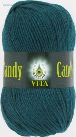 Пряжа Candy Vita 2546 Темно-зеленый - купить в интернет-магазине