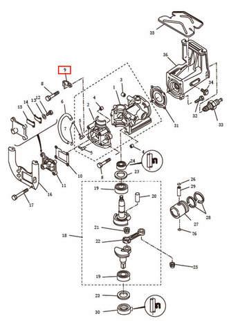 Зажим  для лодочного мотора T2,5 SEA-PRO (2-9)