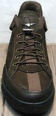 Мужские демисезонные кроссовки сникерсы Luciano Bellini 71748 Brown