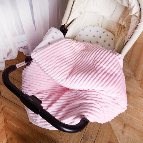 Постельное белье для коляски 4-02 80х80 см Розовый