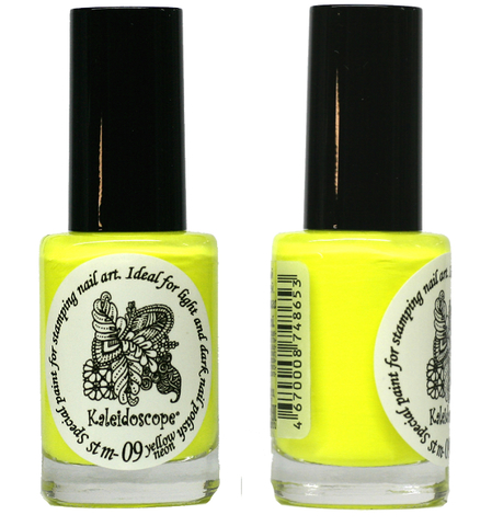 Kaleidoscope Лак для стемпинга №st-09 Yellow neon 15 мл