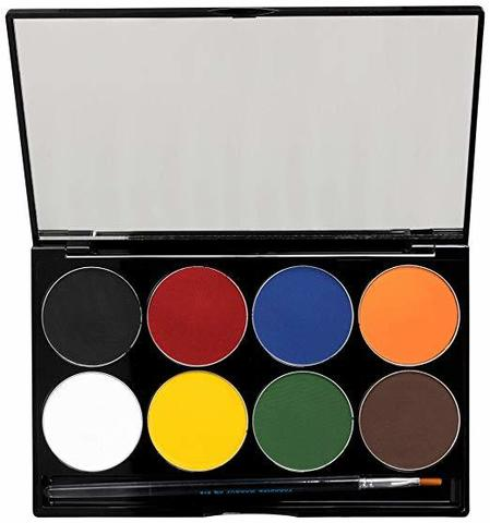 MEHRON Палитра аквагрима Makeup Paradise AQ Face & Body Paint 8 Color Palette - Basic, 8 цветов по 7 г
