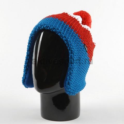Шапка вязаная с помпоном Eisbar Star Ear Pompon 326