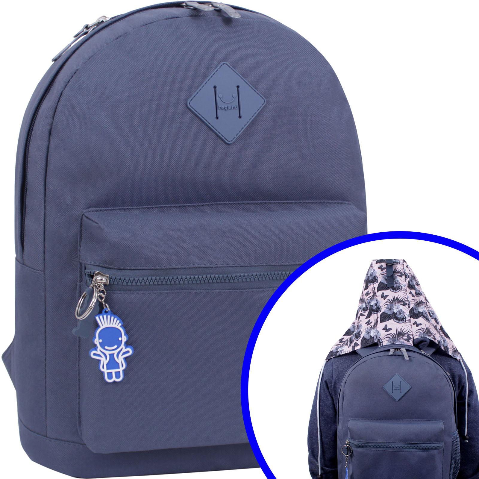 Городские рюкзаки Рюкзак Bagland Hood W/R 17 л. серый 458 (0054466) Вариант_4.jpg
