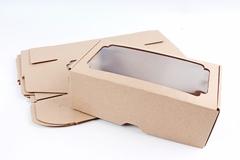 Набор (из 5шт) Коробка-трансформер с окном МГК крафт 12х23 h=8 см.