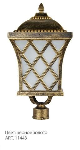 Светильник садово-парковый, 100W 230V E27 IP44 черное золото, PL4065 (Feron)