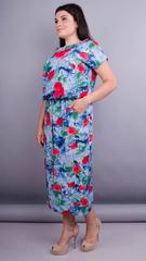 Мрия. Яркое платье больших размеров. Розы.