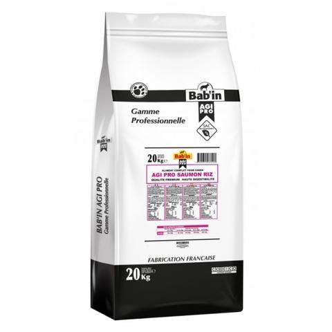 Bab'in AGI PRO Saumon Riz сухой корм для взрослых собак средних и крупных пород 20 кг