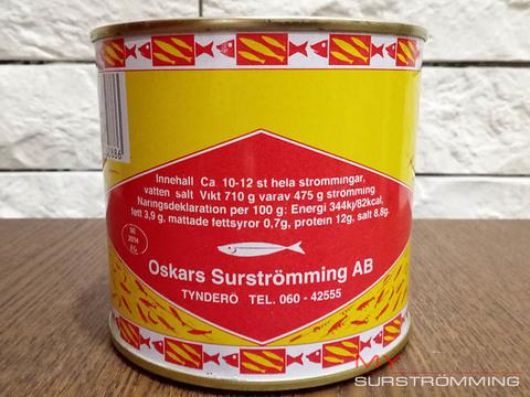 Сюрстремминг Oskars в банке 475 грамм состав продукта