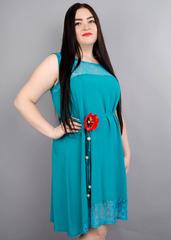 Маки. Платья для женщин. Бирюза норма.
