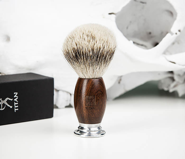 RAZ437-2 Помазок для бритья TITAN, барсучий волос фото 03